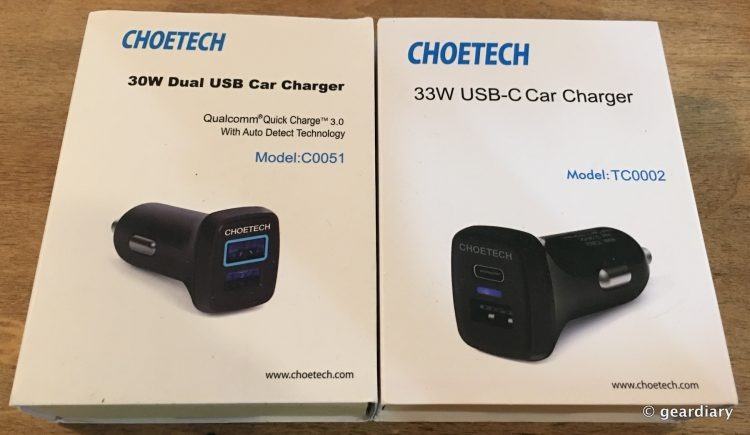 1-Choetech Qualcomm USB 3.0 Quickcharge Car Chargers 3579x2077