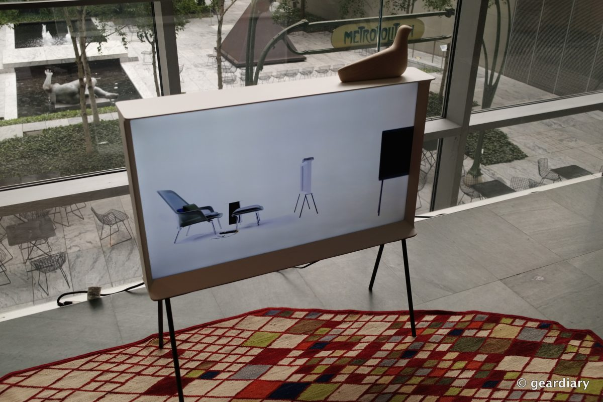 GearDiary Samsung SERIF TV: Art You Can Watch in Your Home