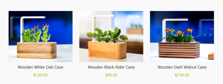 Click & Grow wooden cases