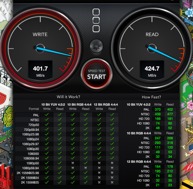 Extreme 500 480GB Portable SSD speed test