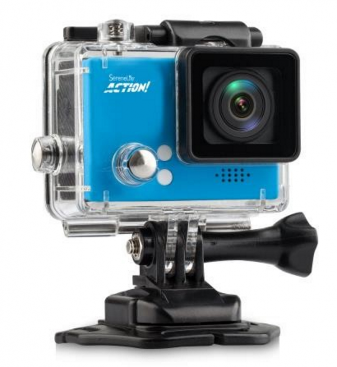Pyle's Compact ACTION! 4K Ultra HD WiFi Camera, 1080p+ Sports Action Camera + Camcorder in blue 2