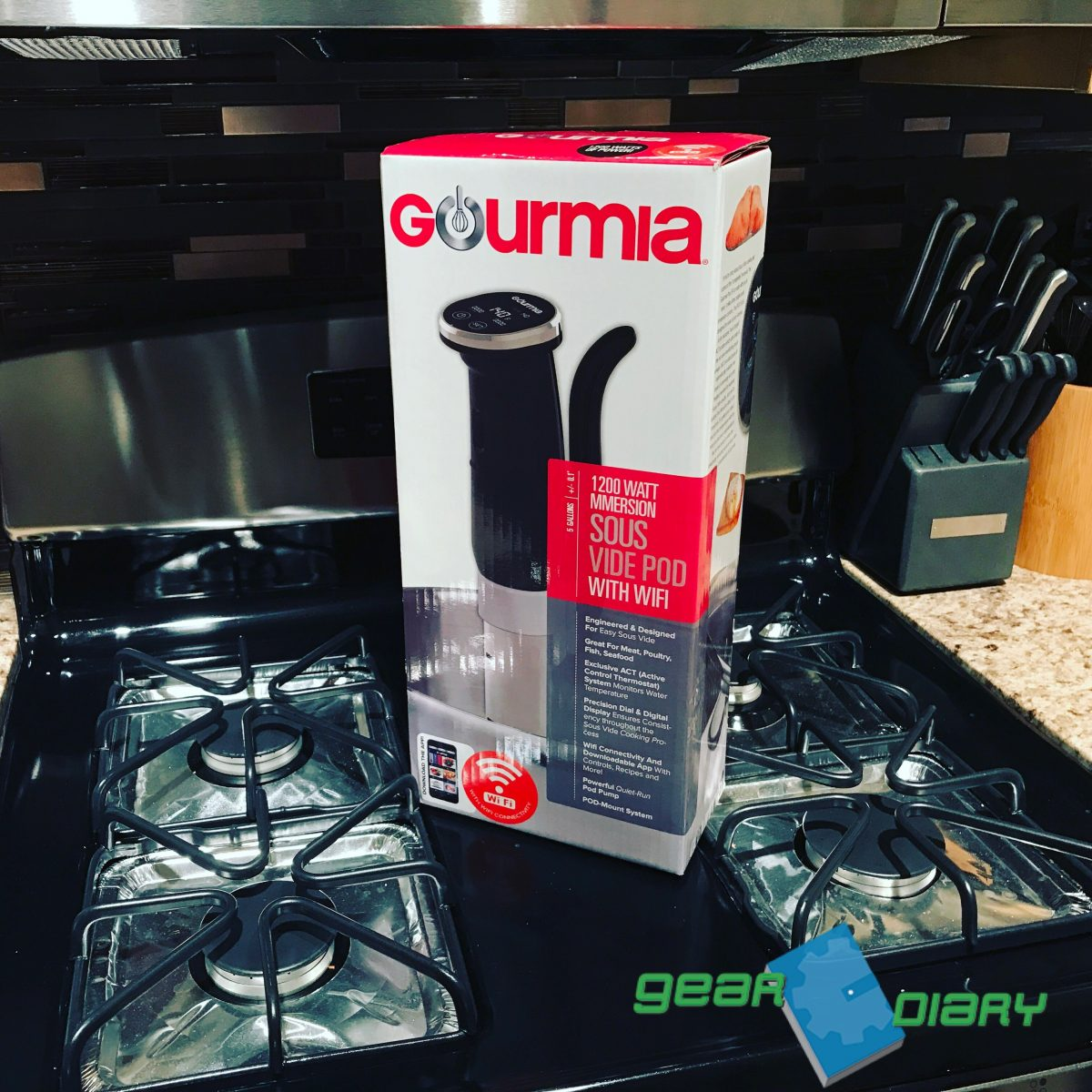 restaurant quality meals made at home with the gourmia sous vide geardiary. Black Bedroom Furniture Sets. Home Design Ideas
