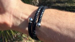 GearDiary Active Edge Leather Wrap Bracelet Lets You Look and Feel Great