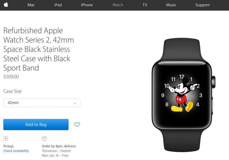 Apple Watch 2 Refurbs Now Available Online
