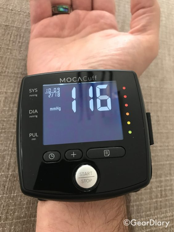 GearDiary MOCAcuff Wrist Monitor Makes Blood Pressure Checks Simple