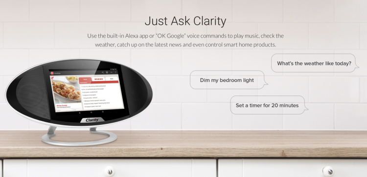 Clarity Speaker is the First Standalone Device That Works With Both Amazon and Google Voice Services