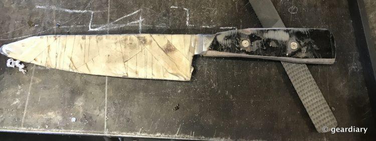 GearDiary 05-Finishing the Man Crates Damascus Chef Knife-004