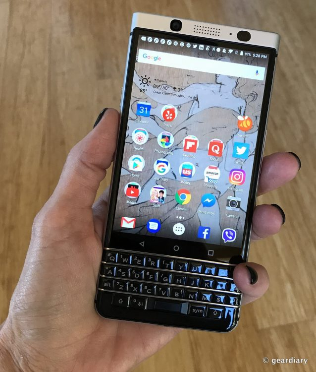 GearDiary The BlackBerry KEYone Review: Your Favorite QWERTY Keyboard is Back