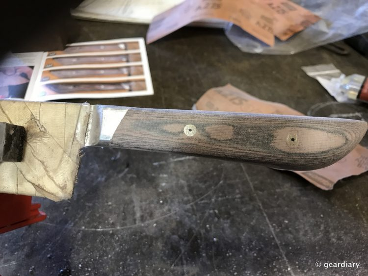 GearDiary 13-Finishing the Man Crates Damascus Chef Knife-012