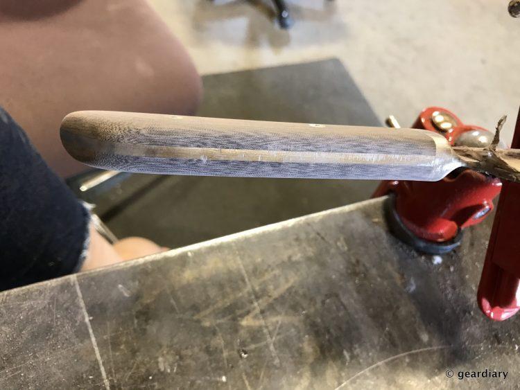 GearDiary 18-Finishing the Man Crates Damascus Chef Knife-017