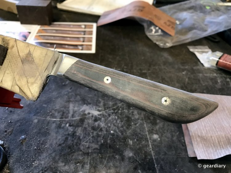 GearDiary 22-Finishing the Man Crates Damascus Chef Knife-021