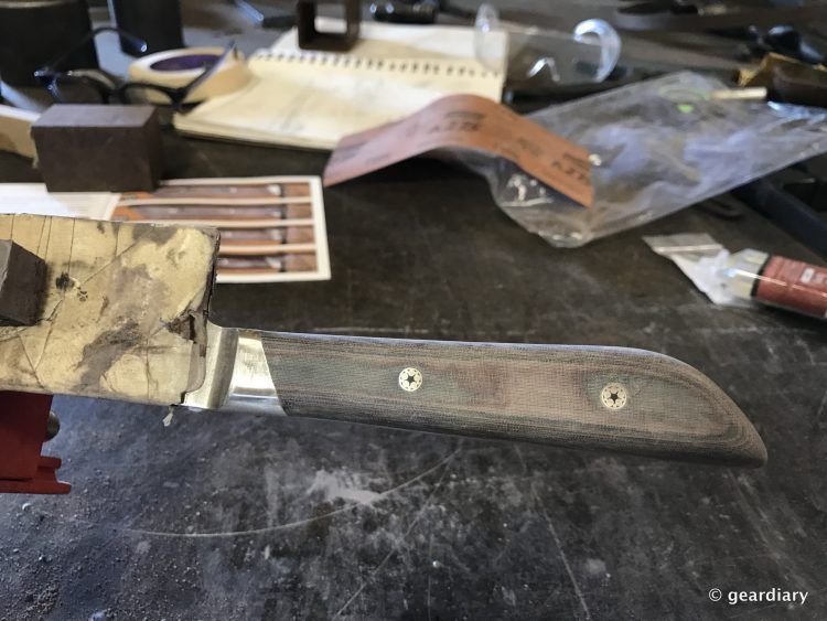 GearDiary 23-Finishing the Man Crates Damascus Chef Knife-022