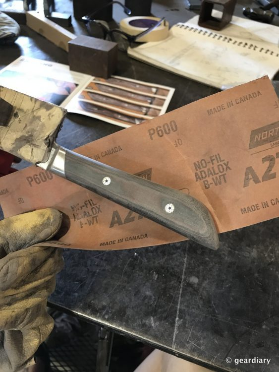 GearDiary 24-Finishing the Man Crates Damascus Chef Knife-023