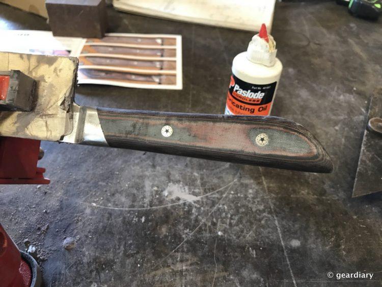 GearDiary 25-Finishing the Man Crates Damascus Chef Knife-024