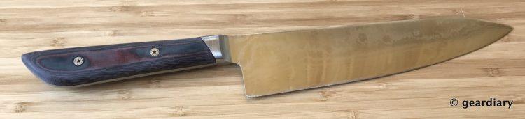 GearDiary 30-Finishing the Man Crates Damascus Chef Knife-029
