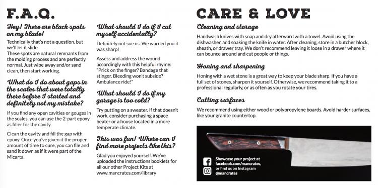 GearDiary Man Crates Damascus Steel Chef Knife Kit User Manual.51 PM-001