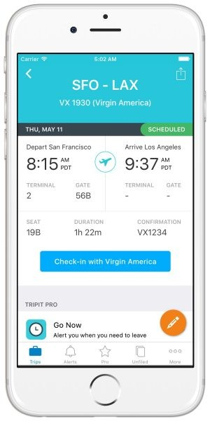GearDiary New TripIt Features Make the Commute to the Airport Much Easier