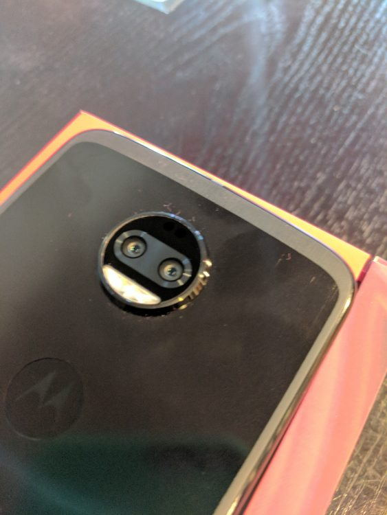 Rear Camera of the Moto Z2 Force