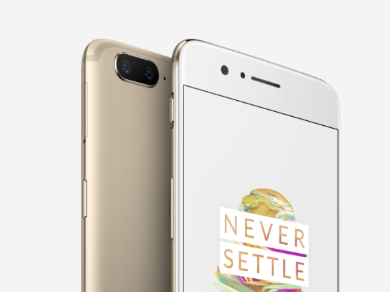 GearDiary The OnePlus 5 Now Comes in a Limited Edition Soft Gold