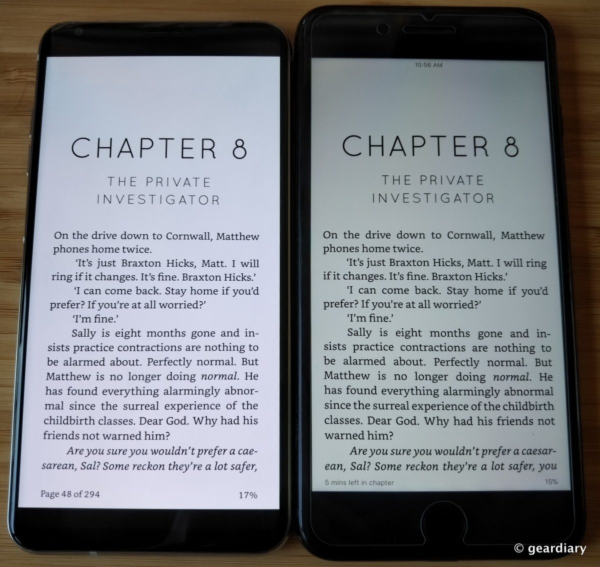 1-lg v30 vs iphone 7 plus kindle app – GearDiary