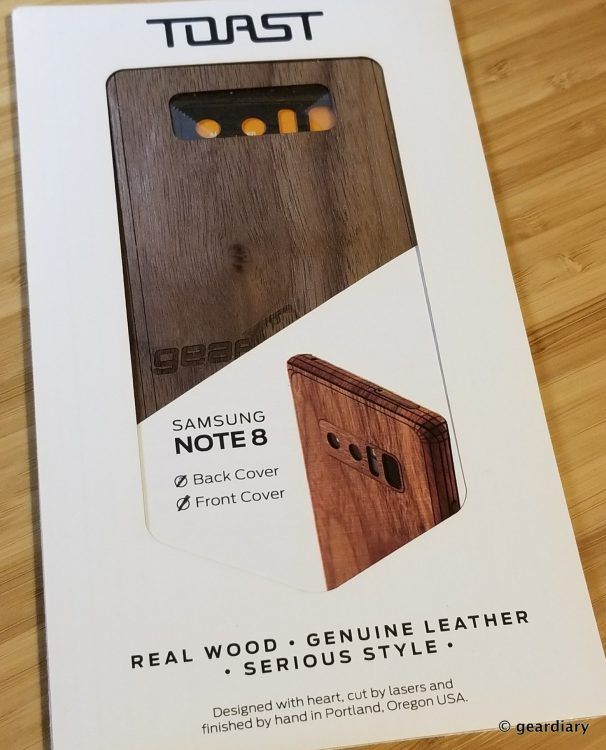 GearDiary 01-Toast Wood Veneer Skin for the Samsung Galaxy Note8 Review