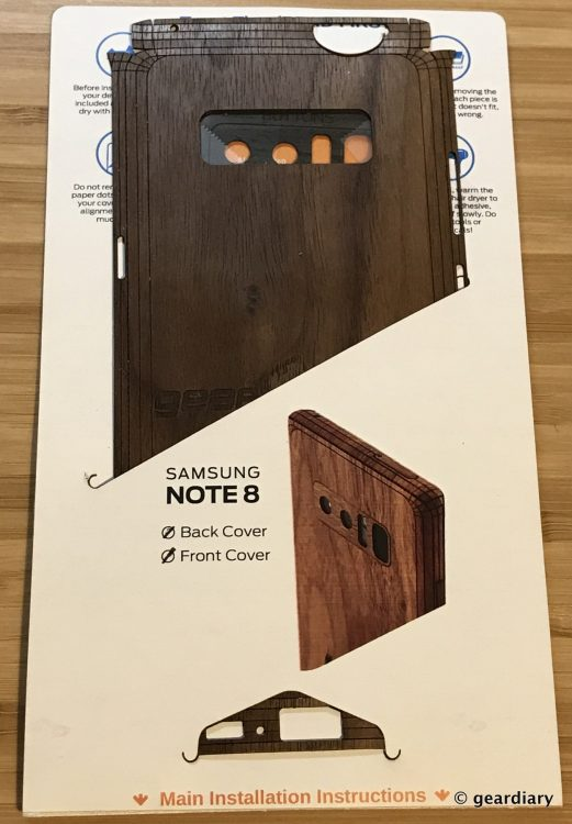 GearDiary 04-Toast Wood Veneer Skin for the Samsung Galaxy Note8 Review-003