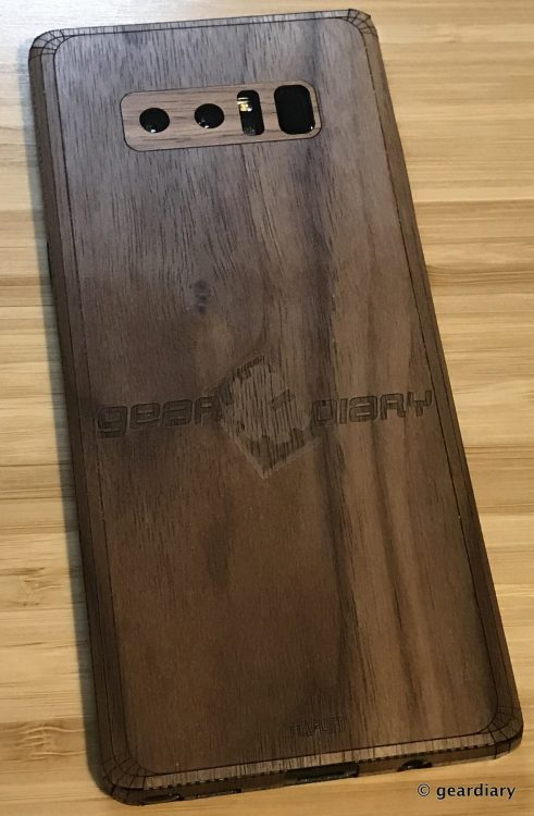 GearDiary 34-Toast Wood Veneer Skin for the Samsung Galaxy Note8 Review-033