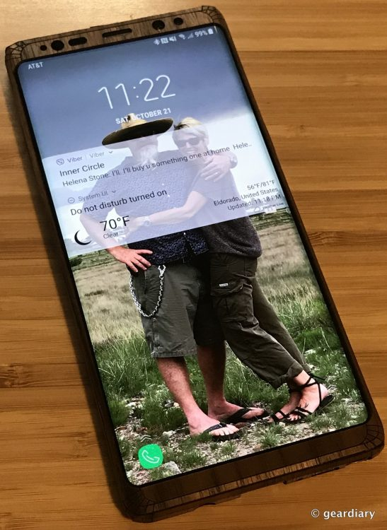GearDiary 38-Toast Wood Veneer Skin for the Samsung Galaxy Note8 Review-037