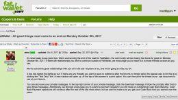 GearDiary Popular Deal Website FatWallet Closing 10/9/2017