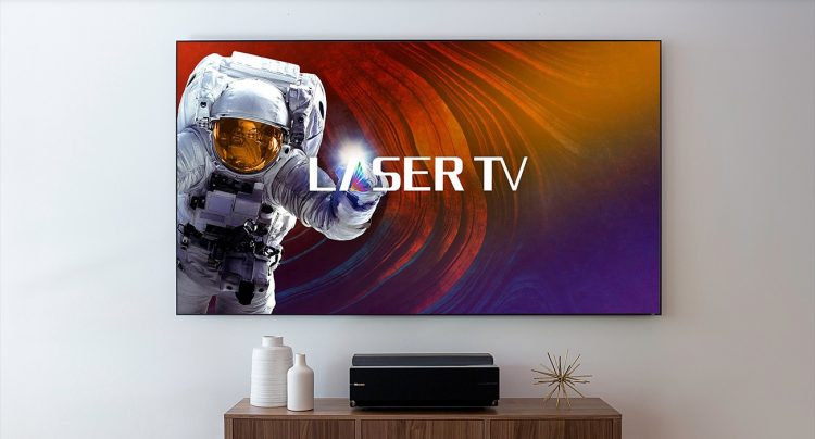 """GearDiary Hisense's Laser TV Is the Most Affordable Way to Get a 100"""" TV"""
