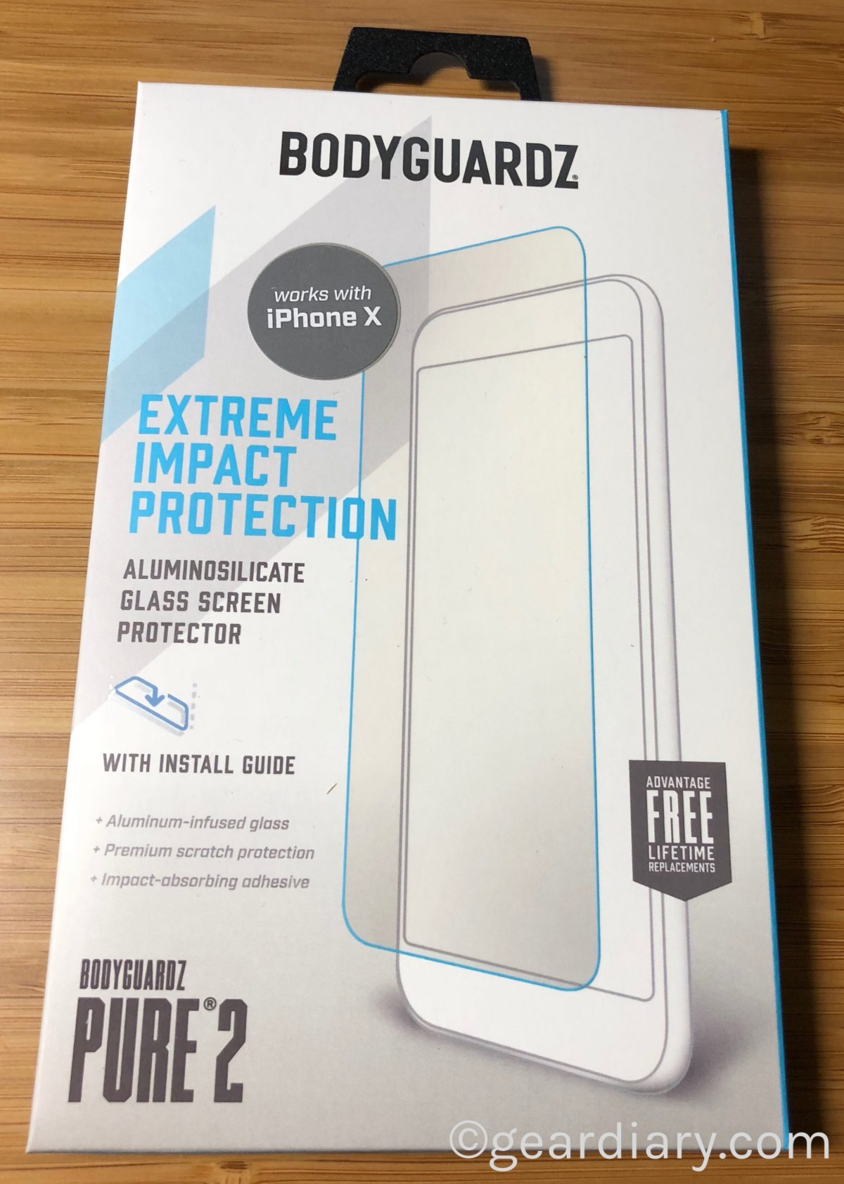 the best attitude 9a42e 37978 Apple iPhone X BodyGuardz Pure 2 Premium Glass Screen Protector to ...