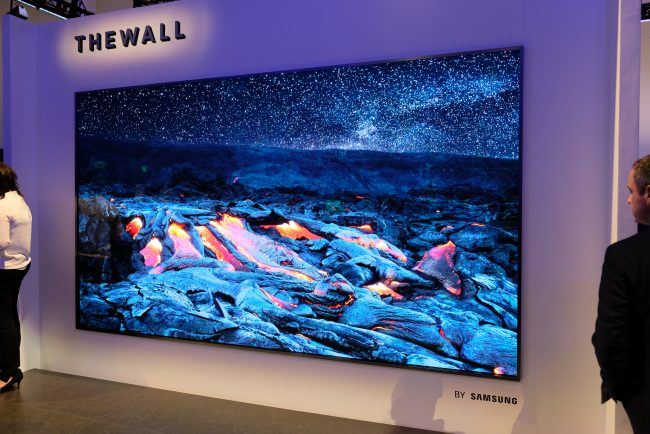 Samsung's 146-inch 'The Wall' MicroLED TV Can Literally Grow with You