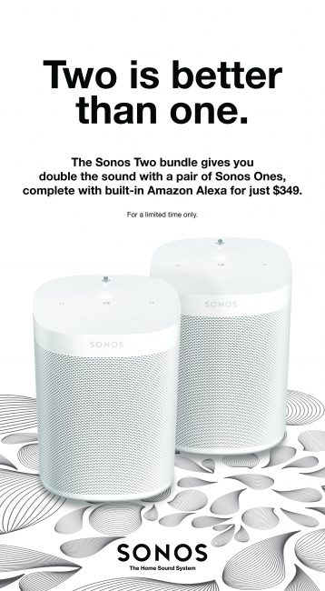 SONOS' New Deal Proves Twice As Nice As Apple's HomePod