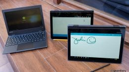 You Can Use a Pencil to Write on the Lenovo 300e Chromebook's Display
