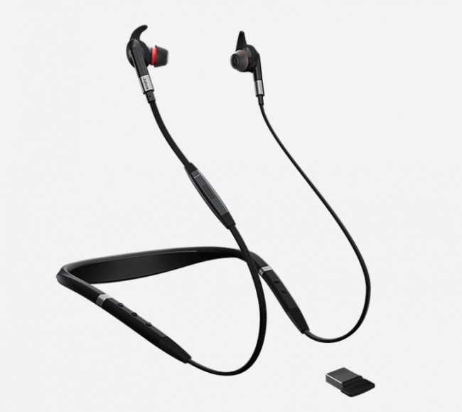 GearDiary The Jabra Evolve 75e Is a Business-Centric Neckband-Style Wireless Headset