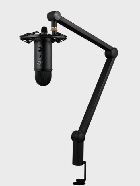 GearDiary Blue Designs Compass Boom Arm Takes Podcasts to New Heights