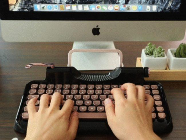 GearDiary KnewKey Rymek Bluetooth Keyboard Is Retro Coolness
