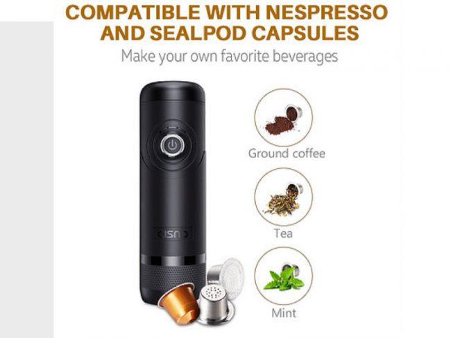 GearDiary CISNO Portable Espresso Machine for Espresso Anywhere, Anytime
