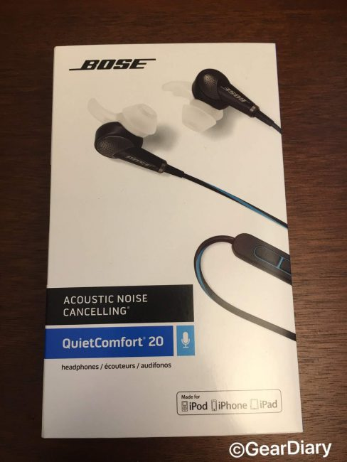 GearDiary Bose QuietComfort 20 In-Ear Headphones Review