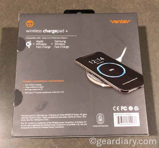 GearDiary The Ventev Wireless Chargepad+ Is a Great Way to Wirelessly Charge Your Phone