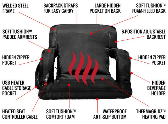 GearDiary The Hot Seat: World's First USB Heated Stadium Chair