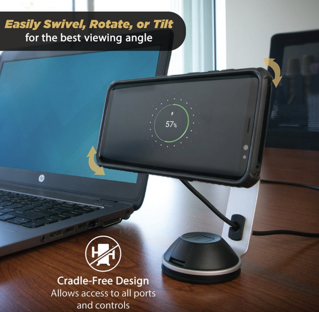 GearDiary The Desk Version of the Scosche MagicMount Pro Charge Is the Wireless Charger You Need to Have