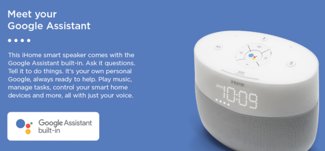 iHome iGV1 Is a Google Assistant Built-In Bedside Speaker System