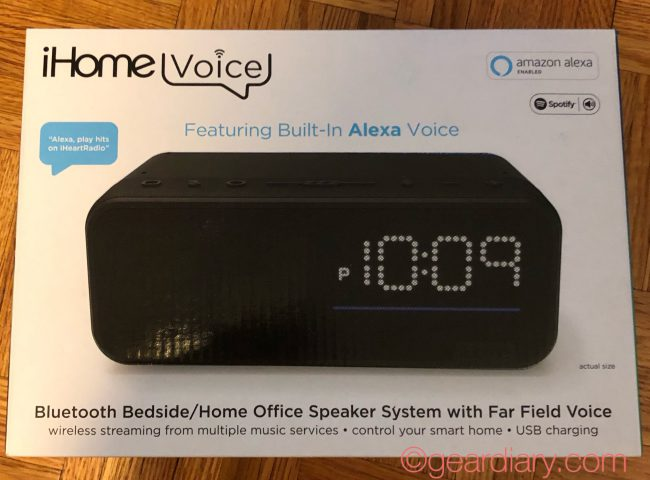 iHome iAV14 Is a Small but Powerful Bedside Clock with Alexa