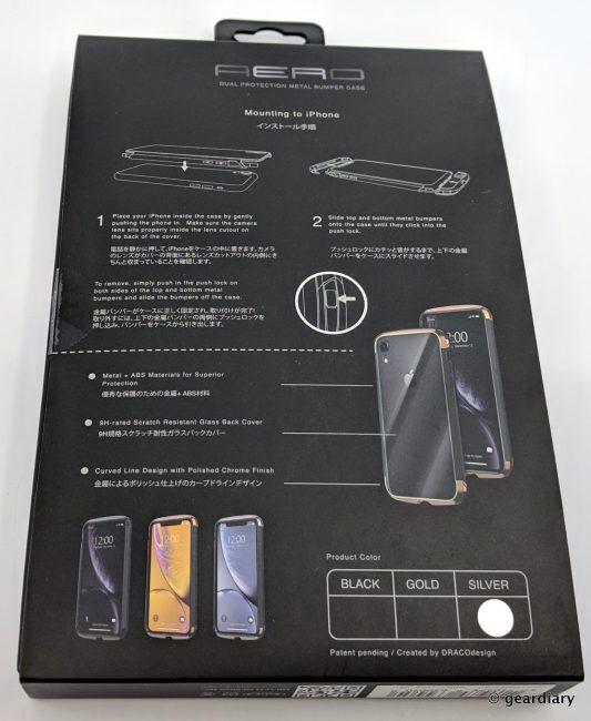 GearDiary 02-DRACOdesign AERO Dual Protection Metal Bumper Case for iPhone XS Max-001