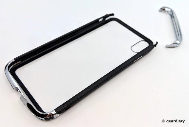 GearDiary 06-DRACOdesign AERO Dual Protection Metal Bumper Case for iPhone XS Max-006