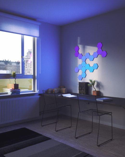 GearDiary Nanoleaf Shines at CES Debuting Innovative Nanoleaf Canvas Light Panels