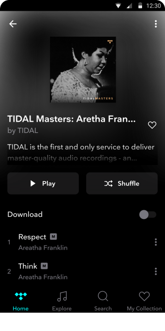 GearDiary TIDAL Masters Now Available on Android