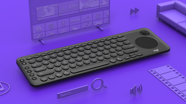 GearDiary The Logitech K600 TV Keyboard Makes Couch Browsing So Much Better