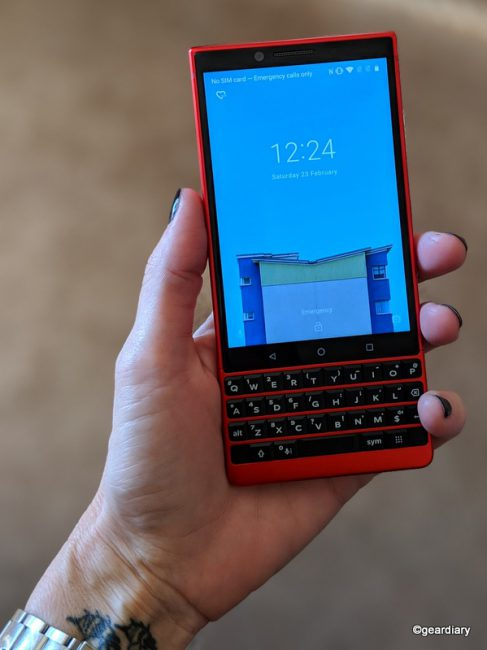 GearDiary The BlackBerry KEY2 Red Edition Looks Sporty